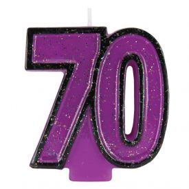 Candle Numeral 70 Glitter