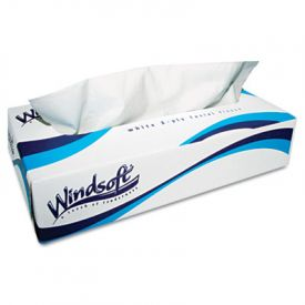 Windsoft® White Facial Tissue, White, 2-Ply
