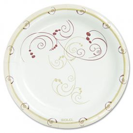 Dart Symphony Paper Plates, Medium weight, 8 1/2