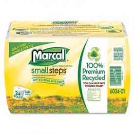 Marcal® 100% Recycled Bundle Bathroom Tissue, White, 168 Sheets