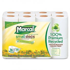 Marcal® 100% Recycled 2-Ply Bathroom Tissue, White