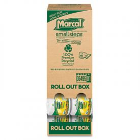 Marcal® 100% Recycled Roll Out Convenience Pack Tissue, 504 Sheets