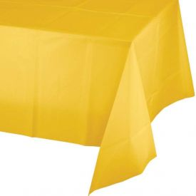 School Bus Yellow Plastic Table Cover 54
