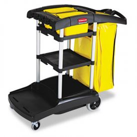 Rubbermaid® Commercial High Cap. Cleaning Cart, 21-3/4w x 49-3/4d