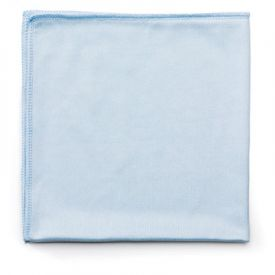 Rubbermaid® Commercial Microfiber Cleaning Cloths, 16 x 16, Blue