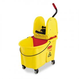 Rubbermaid® Commercial WaveBrakeBucket - Wringer Combos, Yellow