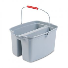Rubbermaid® Commercial Double Utility Pail, Plastic, 18 x 14 1/2 x 10