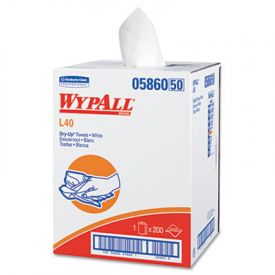 WypAll* Professional Towels, 19 1/2 x 42, White