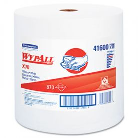 WypAll* X70 Wipers, Jumbo, Perf, 12 1/2x13 2/5, White