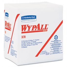 WypAll* X70 Wipers, 1/4-Fold, 12 1/2 x 12, White