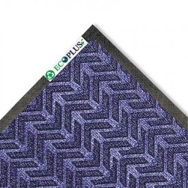Crown EcoPlus+™ Wiper/Scraper Mat, P.E.T. Polyester, 35 x 59, Midnight Blue