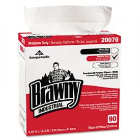 Georgia Pacific® Brawny Industrial; Medium Duty Wipers, 90 Wipes/Box