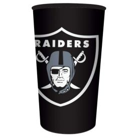 NFL Raiders Rigid Plastic Souvenir Cups 22 oz.