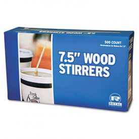 Royal Paper Wood Stir Sticks, 7 1/2