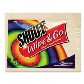 Shout® Wipe & Go Instant Stain Remover, 4.7 x 5.9