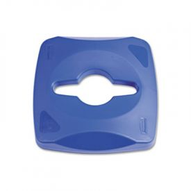 Rubbermaid Commercial Untouchable Recycling Tops, Blue