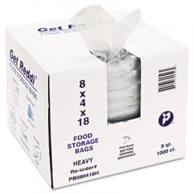 Inteplast Group Food Bags, 8 x 4 x 18, 8-Quart, 1.00 Mil, Clear,