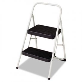 Cosco® Two-Step Folding Step Stool, 200lbs, 17 3/8 x 18 x 28 1/8