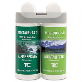 Rubbermaid® Microburst Duet Refills, Alpine Spring, 3oz, Aerosol