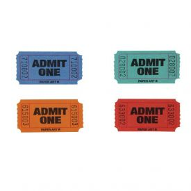 Tickets, Admit 1, Red/Blue/Orange/Green