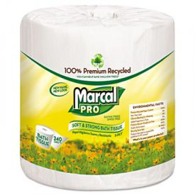 Marcal PRO™ 100% Recycled Bathroom Tissue, White, 240 sheets/Roll