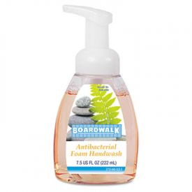 Boardwalk® Antibacterial Foam Hand Soap, Fruity, 7.5 oz Pump Bottle
