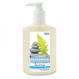Boardwalk® Liquid Hand Soap, Floral, 8 oz Pump Bottle