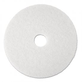 3M White Super Polish Floor Pads 4100, 19