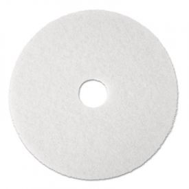 3M White Super Polish Floor Pads 4100, 20
