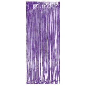 Door Fringe, Foil 8' x 3', Purple
