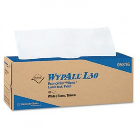 WypAll* L30 Wipers, 16 2/5 x 9 4/5, White, Pop-Up Box
