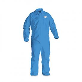 KleenGuard* A60 Elastic-Cuff and Back Coveralls, Blue, 2X-Large