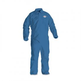 KleenGuard* A60 Elastic-Cuff and Back Coveralls, Blue, Large
