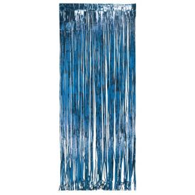 Door Fringe, Foil 8' x 3', Blue