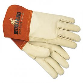 Memphis™ Mustang MIG/TIG Leather Welding Gloves, White/Russet, Large