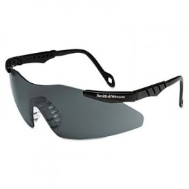 Smith & Wesson® Magnum 3G Safety Eyewear, Black Frame, Smoke Lens