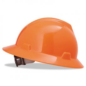 MSA V-Gard® Hard Hats, Standard Size 6 1/2 - 8, High-Viz Orange