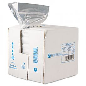 Inteplast Group Food Bags, 8 x 4 x 18, 8-Quart, 0.68 Mil, Clear,