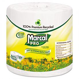 Marcal PRO™ 100% Recycled Bathroom Tissue, 2-Ply, 504 Sheets/Roll