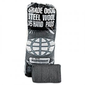 GMT Industrial-Quality Steel Wool Hand Pads, #0000 Super Fine