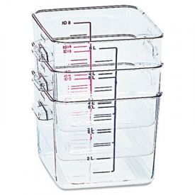 Rubbermaid® Commercial SpaceSaver Square Containers, 8 Quart