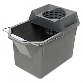 Rubbermaid® Commercial Pail/Strainer Combinations, 15 qt, Steel Gray