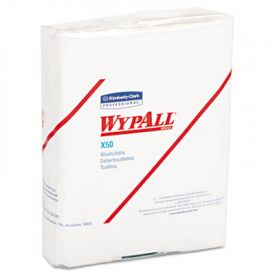 WypAll* X50 Wipers, 10 x 12 1/2, White