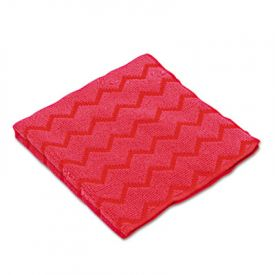 Rubbermaid® Commercial Microfiber Cleaning Cloths, 12 x 12, Red