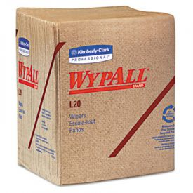WypAll* L20 Wipers, 12 1/2 x 13, Brown