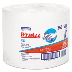 WypAll* X50 Wipers, 9 4/5 x 13 2/5, White
