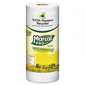 Marcal® 100% Premium Recycled Perforated Towels, 2-Ply, 11x9, White
