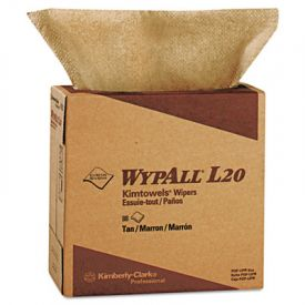 WypAll* L20 Wipers, 9 1/10 x 16 4/5, Brown, POP-UP Box