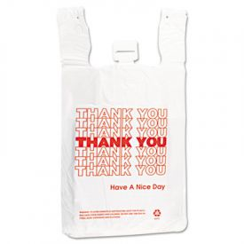 Inteplast Group HDPE T-Shirt Bags, 12 x 7 x 13, 14 Microns
