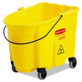 Rubbermaid® Commercial WaveBrakeBucket, 8.75 gal, Yellow
